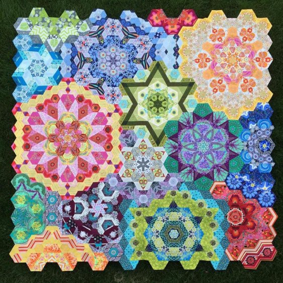the new hexagon millefiore quilt along katja s quilt shoppe